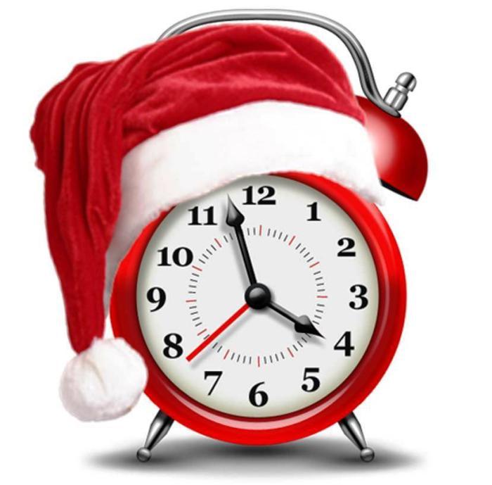 Resultado de imagen de reloj de navidad